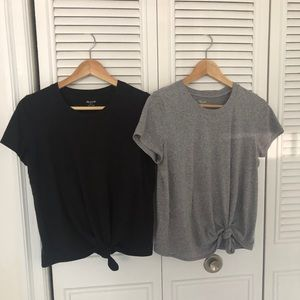 Madewell Knot-Front Tees